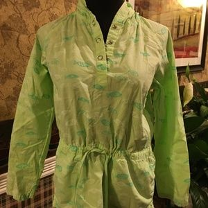 Fresh Produce Green Cotton Hooded Pullover Sz XS